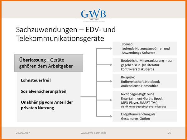 Übersicht: steuerliche und sozialversicherungsrechtliche Behandlung der Überlassung von EDV-Geräten an Arbeitnehmer