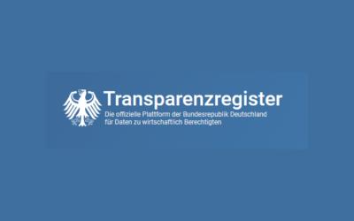 Neues vom Transparenzregister