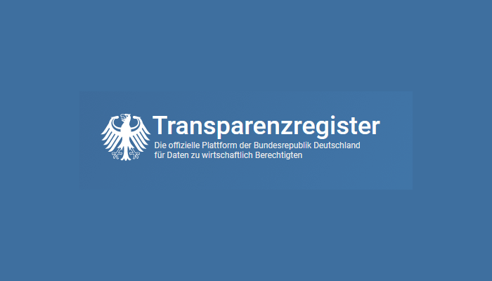 Logo Transparenzregister - offizielles Logo der offiziellen Seite